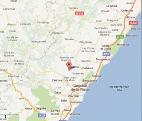 Mapa provincia de Castellon