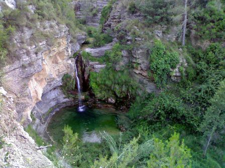 Paisaje del Salto de la Novia comarca Alto Mijares