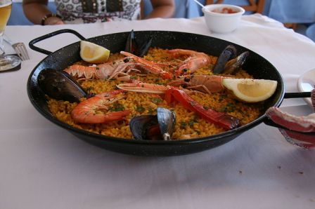 Paella marinera en Cullera