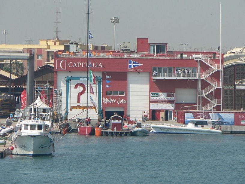 Ediicios y disposiciones de el puerto deportivo de Valencia