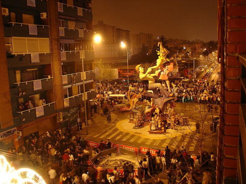 Celelbraciones antes de la crema en Valencia