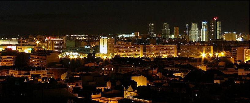 Vista general de noche en Valencia