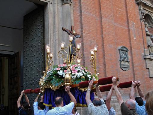 Procesion durante la fiesta de San Vicente Ferrer