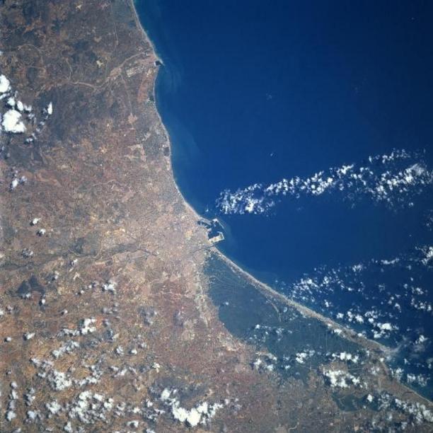 Vista satelital de el territorio de Valencia