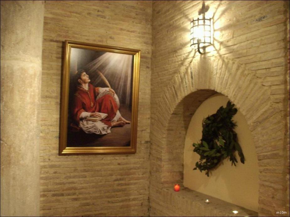 Vista interior de la carcel capilla de Vicente Ferrer