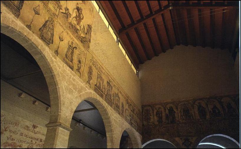 Decoraciones en las paredes de el Almudin