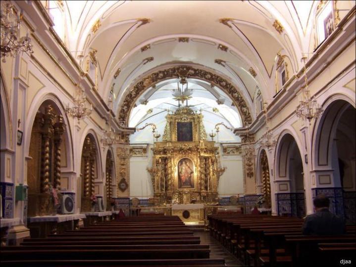 Interior de la Ermita de Santa Lucia