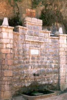Vista de la Fuente de La Gota en Siete Aguas