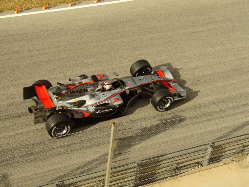 Kimi Raikkonen en el circuito de Cheste
