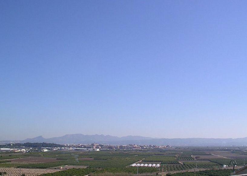 Vista panoramica de la localidad de Alberique