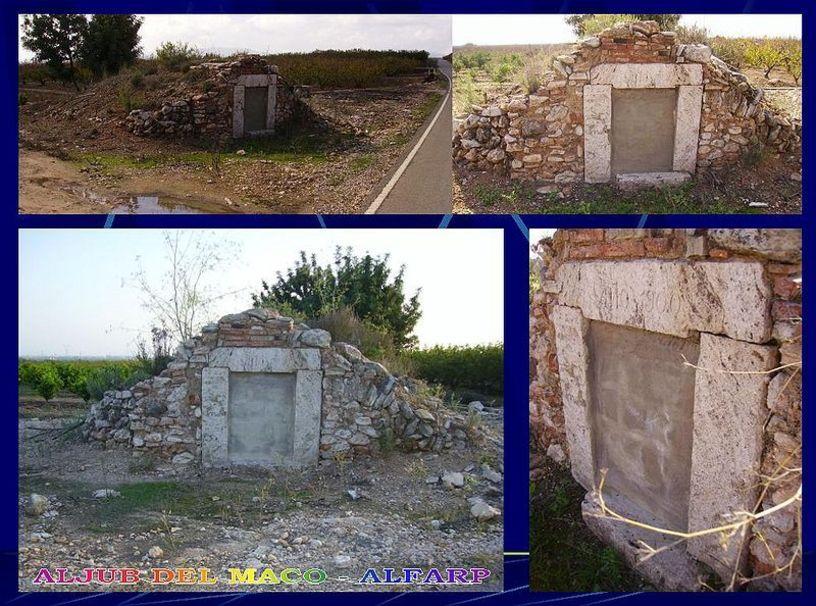 Vistas de los Deposito de agua de 1900 en Alfarp
