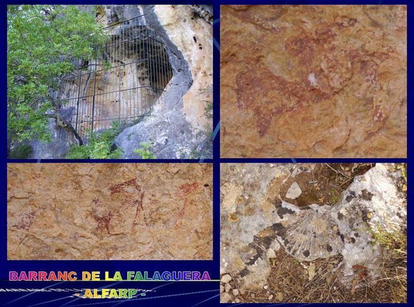 Abrigo de pinturas rupestres en el Barranco de la Falaguera de Alfarp