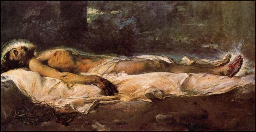 Ignacio Pinazo Camarlench y su obra que representa a Cristo en su lecho