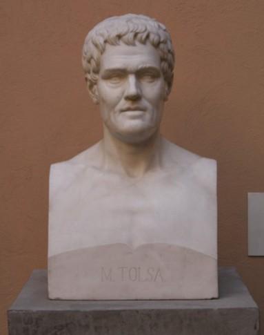 Busto esculpido de Manuel Tolsá por Martín Soriano