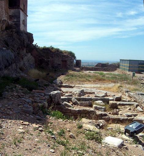 Restos de la taberna en el foro romano