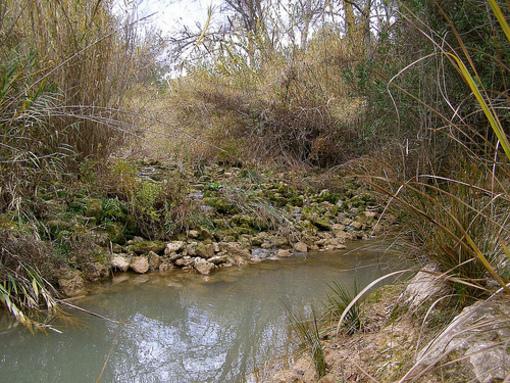 Vista del barraco en torno al rio Turia en Pedralba