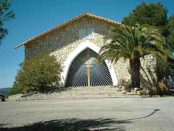 Fachada de la Ermita de Lujan en Pedralba