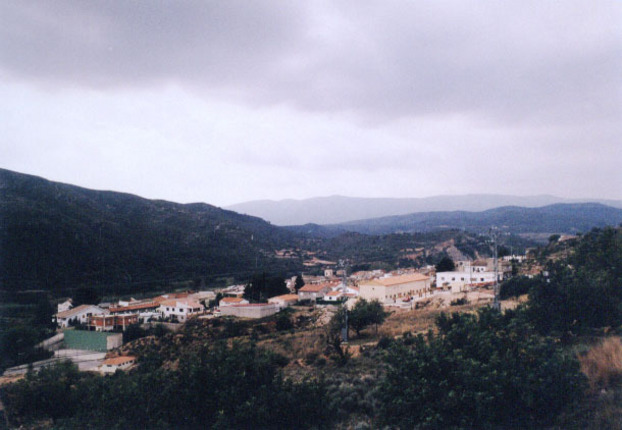 Vista del poblacio de Bugarra