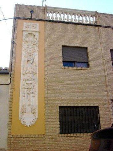 Vistas de la fachada de la casa de la Sirena