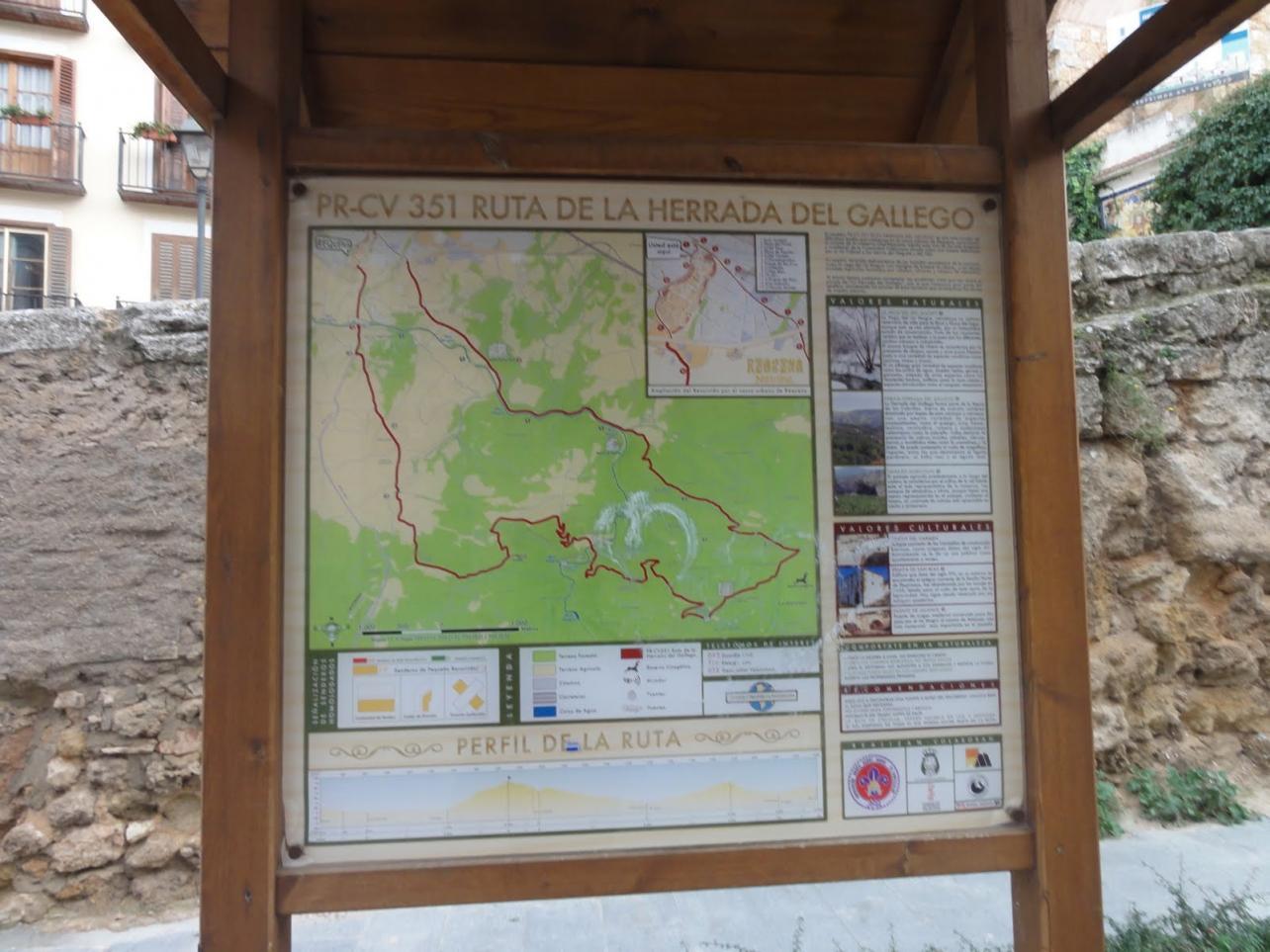 Panel informativo Ruta La Herrada del Gallego