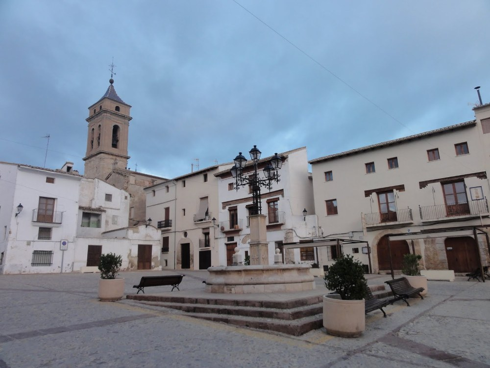 Plaza Albornoz, centro de Requena
