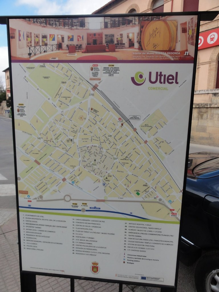 Mapa de Utiel: plano turistico