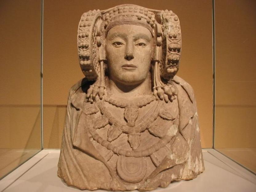 Dama de Elche, en el Museo Arqueológico Nacional de España (Madrid).