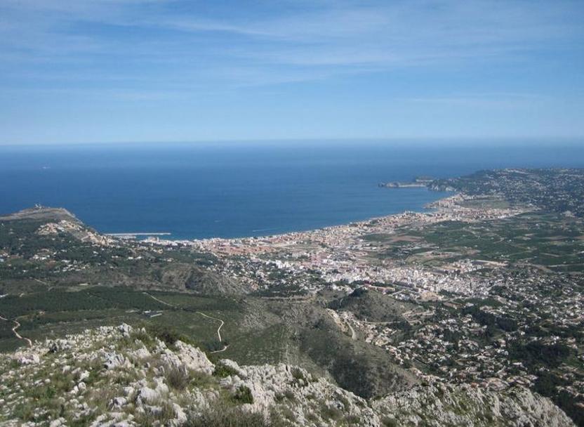 Vista de Jávea desde el Montgó