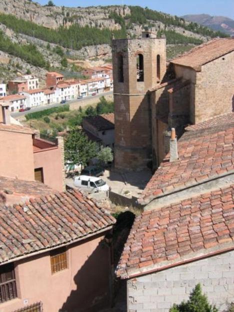 Vista parcial del pueblo de Alpuente