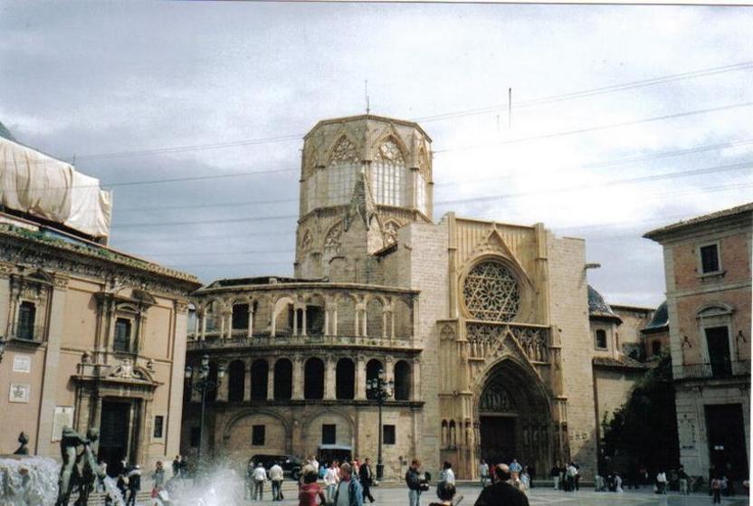 Fachada lateral de la Catedral de Valencia