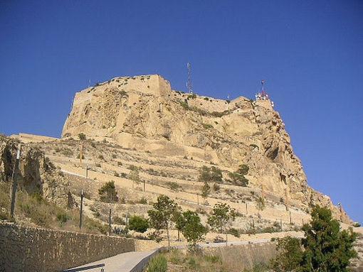 Castillo de Santa Bárbara ubicado en el Centro de Alicante