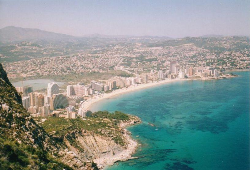Vista panorámica de la Playa La Fosca de Calpe