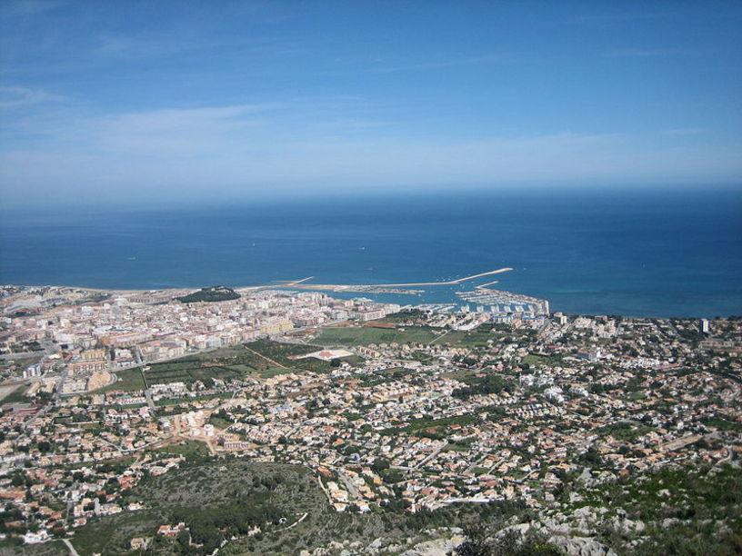 Vista de Denia desde Montgó