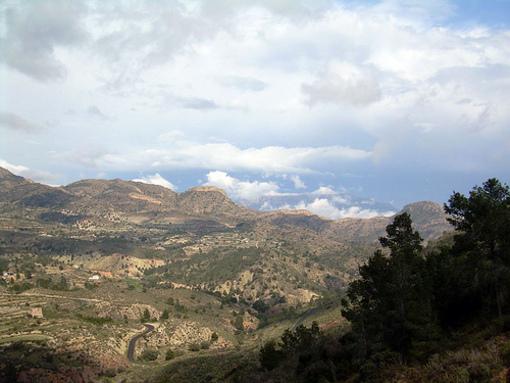 Vista panorámica del Pantano de Tibi