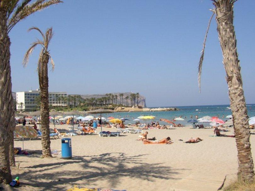 Vista de la Playa de el Arenal en JÁVEA