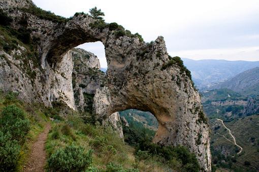 Fromaciones rocosas de Els Arcs  en el Paraje Natural de Castells Castells