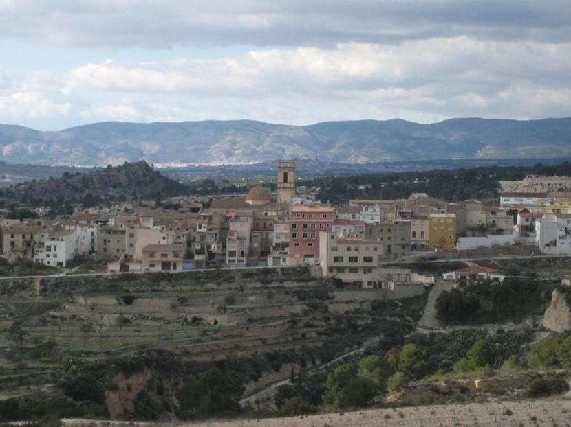 Vista de Tibi des del castell.