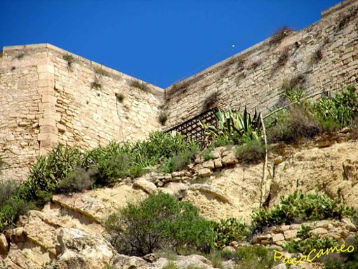 Recorrido de la Muralla del Castillo Santa Bárbara desde el Parque de la Ereta