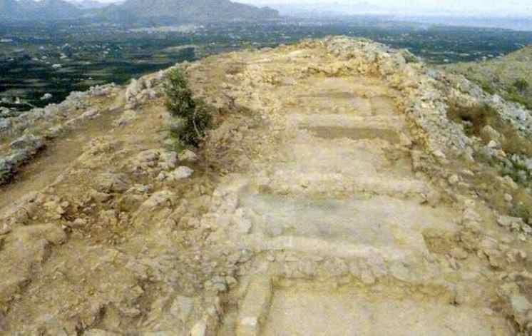 Yacimiento arqueológico del Alto de Benimaquia en Denia,