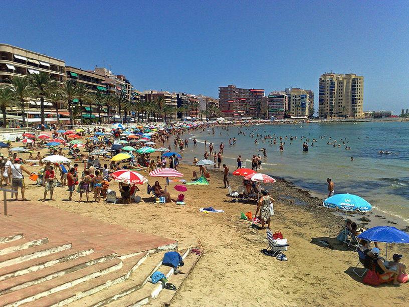 Vista de la playa de Torrevieja