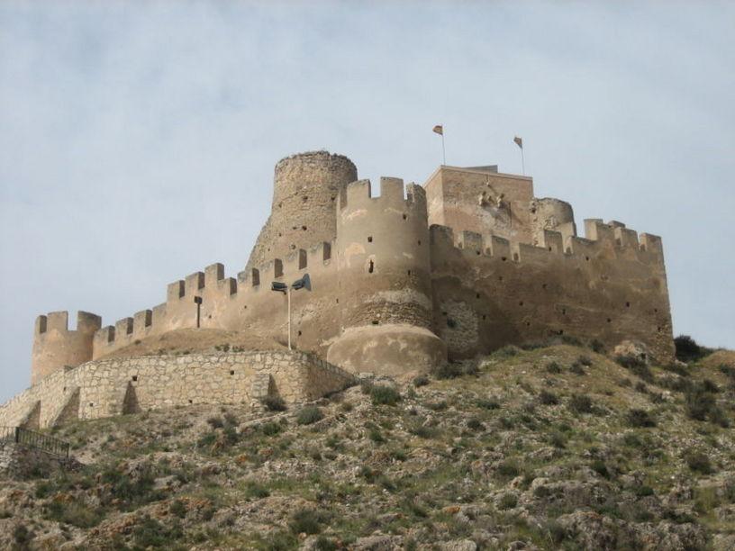 Vista panorámica del Castillo de Biar