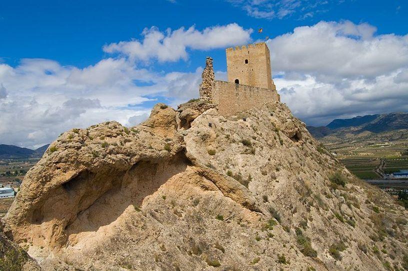 Vista panorámica del Castillo de Sax