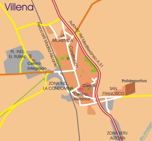 Accesos a Villena