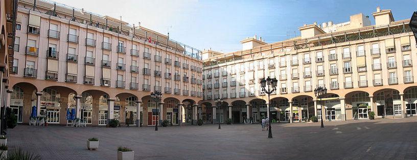 Vista de la Plaza Mayor de Elda