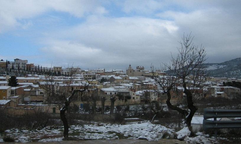 Torremanzanas despues de una nevada