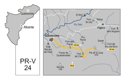 Mapa de locación de la sierra Seralla