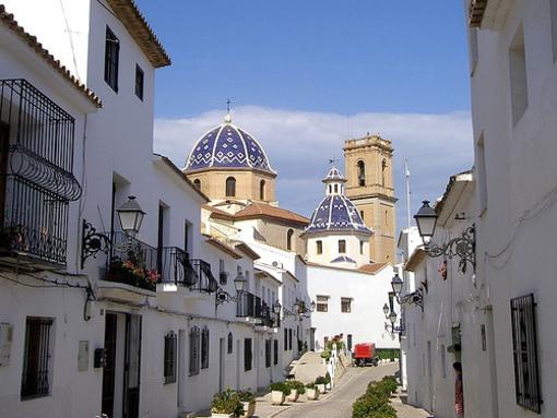 Calles y paseos el Casco antiguo de Altea