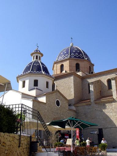 Cupulas de la Iglesia Nuestra Señora del Consuelo en Altea