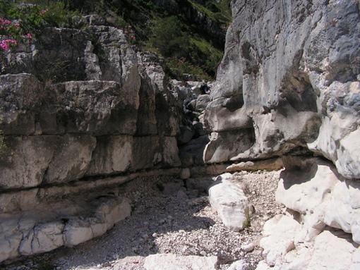 Formaciones rocosas del Barranco del Infierno