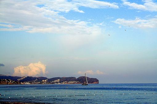 Paisajes de las playas de Calpe